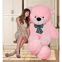 OSJS 3 Feet Huggable Teddy Bear with Neck Bow (Pink)