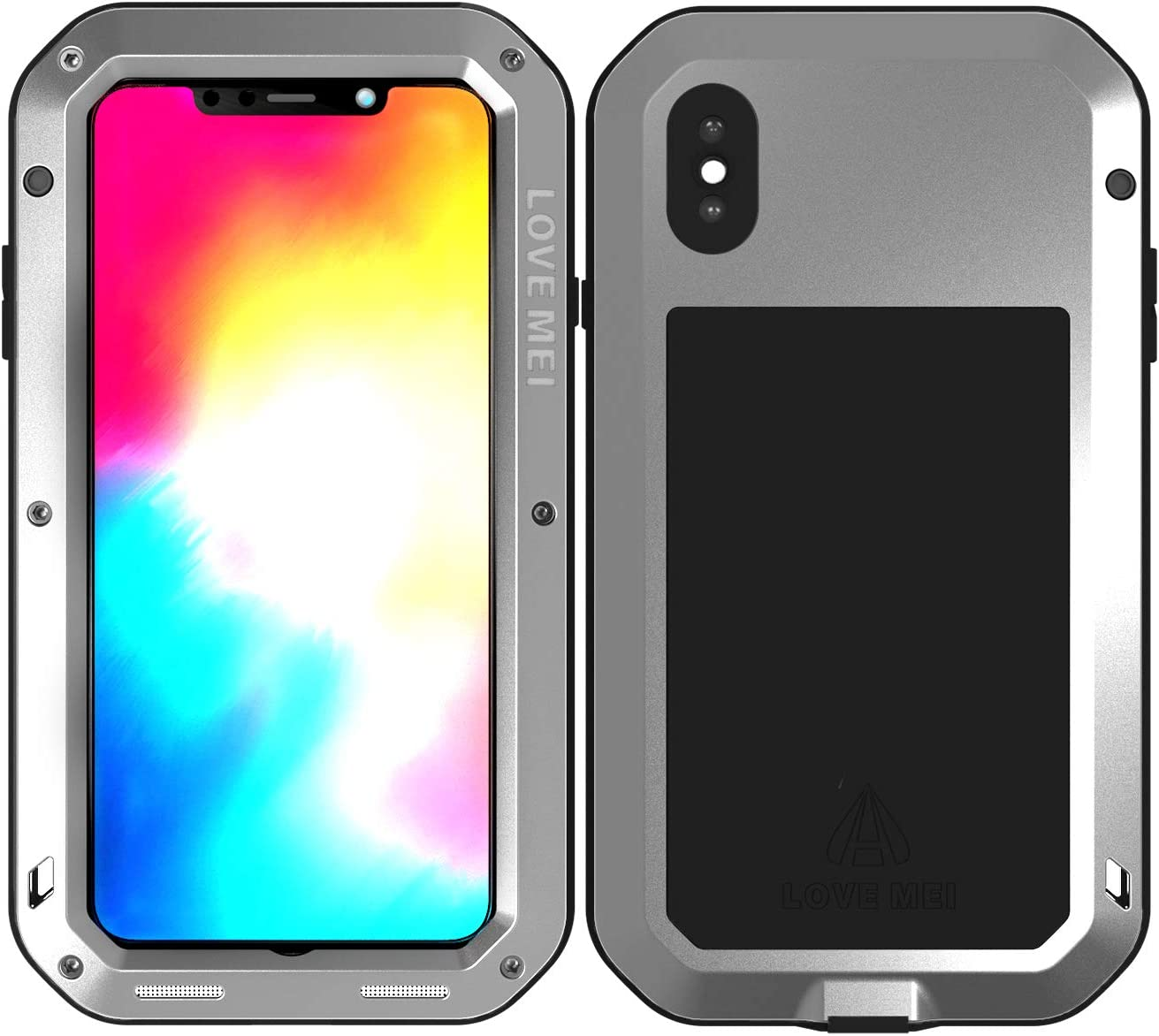 Funda iPhone Xs Max Gel Silicona Transparente Con Tapon Antipolvo