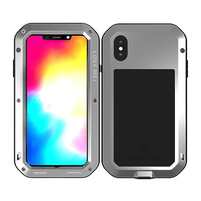 8eae1e18b4e Love Mei powerful Series for iPhone XS max custodia con protezione schermo  in vetro temperato, ...