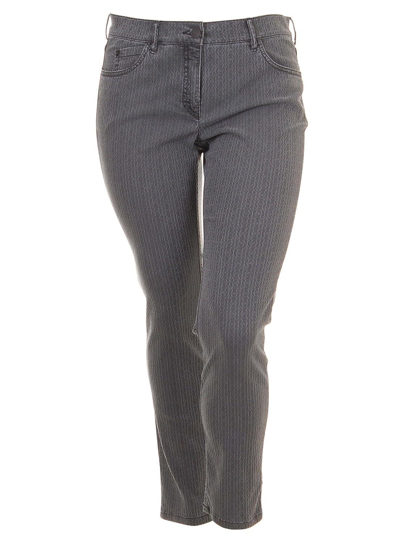 Jeans Twiggy mit Muster in anthrazit in Übergrößen (42, 44, 48, 84, 88, 92, 96) von Zerres