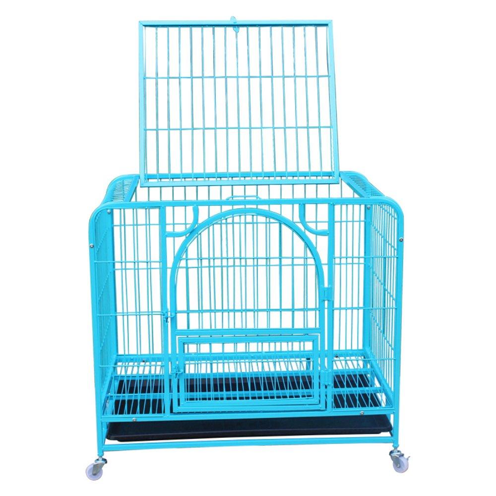 bluee 785373cm bluee 785373cm LDFN Doghouse Doghouse Teddy Doghouse Small Dog Pet Cage,bluee-785373cm