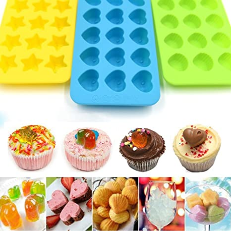 DIY Silicone Ice Cube Candy Chocolate Cake Cookie Cupcake Soap Molds Mould Craft