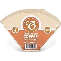 Tamaño 4(1x 4) 4K filtro de café conos