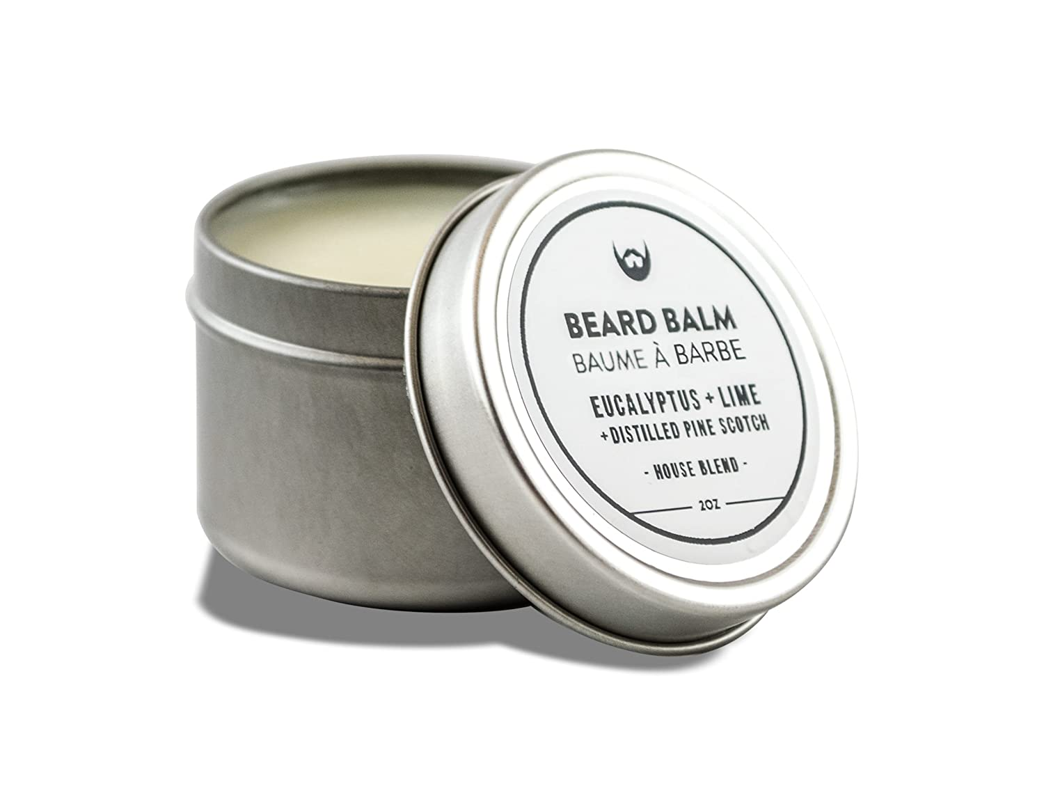 Beard Balm: Eucalyptus + Lime with Distilled Pine Scotch Needle - 2 oz. Canadian made with luxury 100% Natural CertClean Certified Ingredients. Structure Wax for Unruly Beard Hair. Always Bearded Lifestyle