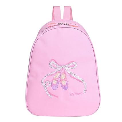 CHICTRY Little Girls Dance Shoulder Bag Dancing School Ballet Gym Backpack (Pink, One Size