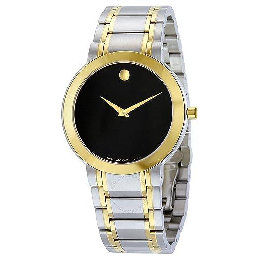Movado - Reloj suizo de cuarzo y acero inoxidable para mujer, color dos tonos (