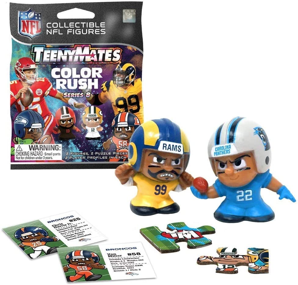 TeenyMates NFL Series 5 Carolina Panthers Lot of 6 Figures Party Favors Pack