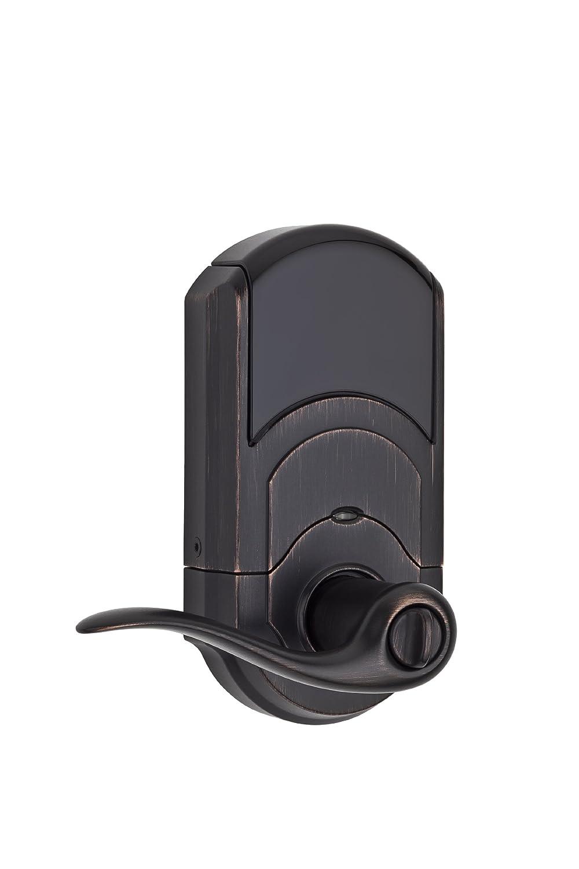 Satin Nickel Kwikset 99120-037 SmartCode 912 Z-Wave Plus Electronic Deadbolt with Tustin Lever