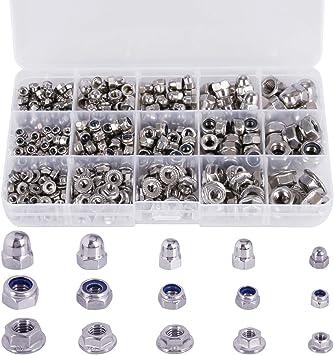 50 piezas M5 Juego de tuercas hexagonales de acero inoxidable 304 de Acorn Cap