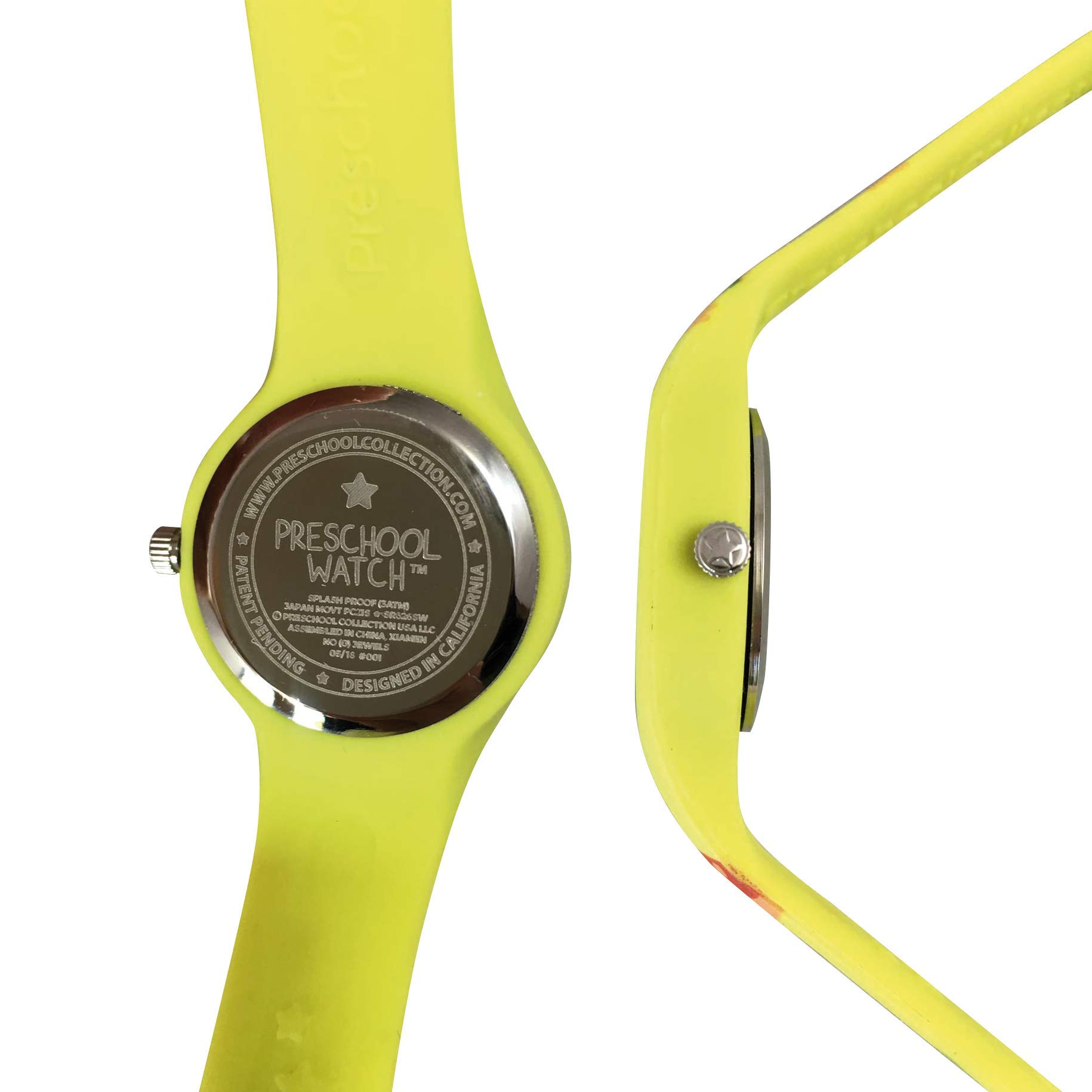 Dinosaur Preschool Watch - The Only Analog Kids Watch Preschoolers Understand! Quality Teaching time Silicone Watch with Glow-in-The-Dark Dial & Japan Movement by PRESCHOOL COLLECTION (Image #4)