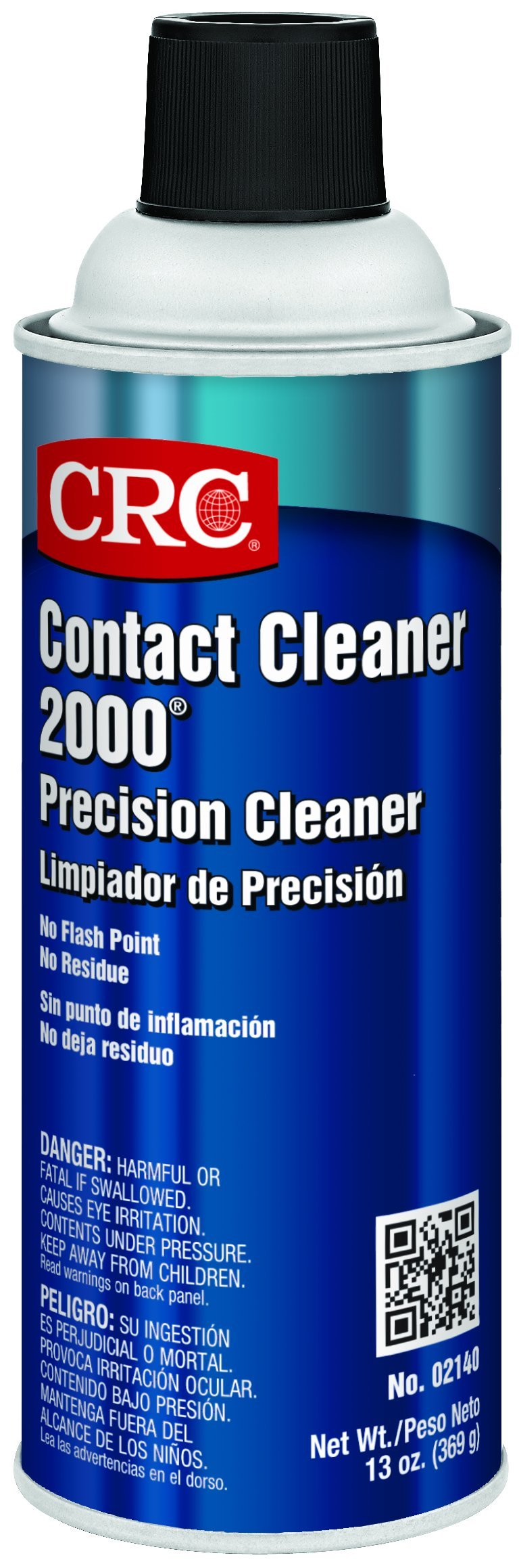 CRC Contact Cleaner 2000 Liquid Precision Cleaner, 13 oz Aerosol Can, Clear