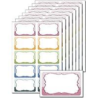 80etiquetas 'Retro rayas' para impresión, P. ej., DIN