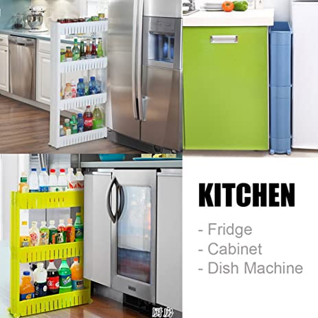 amazon com easikitchen slim storage tower for fridge space saving rh amazon com shelves for fridge freezers lg shelves for fridge freezers lg ebay