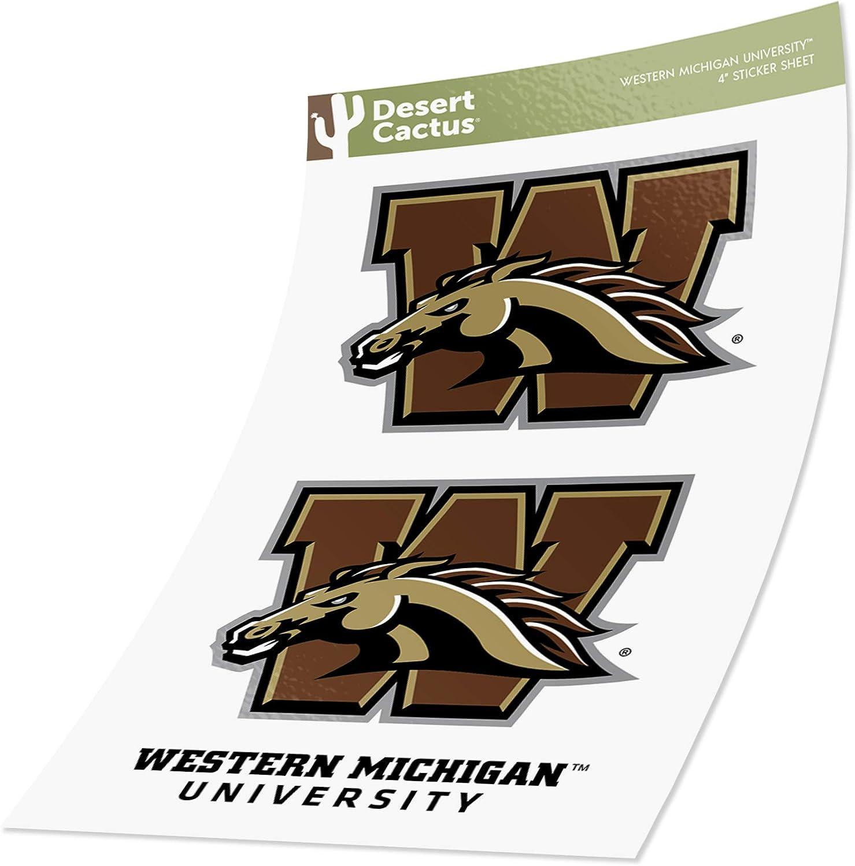 Western Michigan University Sticker Vinyl Decal Laptop Water Bottle Car Scrapbook (4 Inch Set)