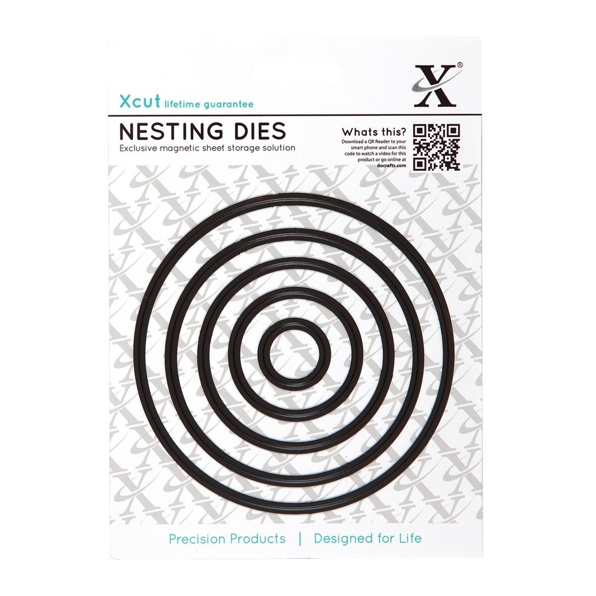 Presscut  metal cutting die circle round nesting layering set of 24 dies pcd130