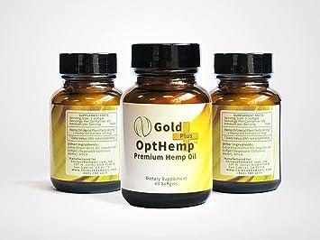 Amazon com: Gold Plus OptHemp Premium Hemp Oil Softgels