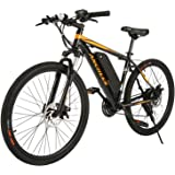 ANCHEER Electric Bike Electric Mountain Bike 350W Ebike 26'' Electric Bicycle, 20MPH Adults Ebike with Removable 7.8/10…