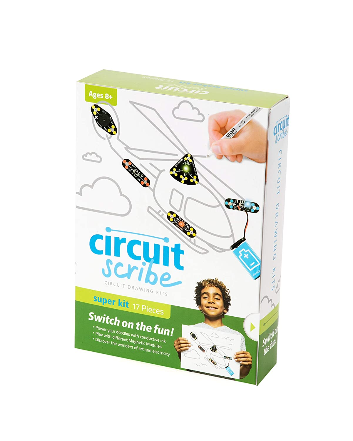 Circuit Scribe Maker Kit Includes Stem Workbook Drawing Tool That S Free For Users To Design And Draw Conductive Silver Ink Pen Everything You Need Learn Explore Create Your Own