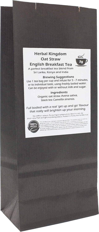 Paja de Avena Orgánico y Desayuno Inglés Bolsas de Té de Hierbas (paquete de 25, sin blanquear): Amazon.es: Alimentación y bebidas