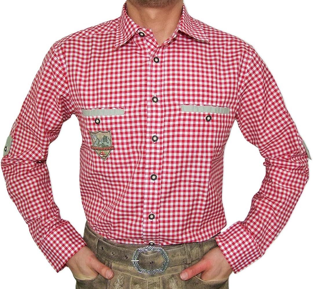 Camisa tradicional de cuadros Wilmar para hombre, diseño de cuadros rojo 40 ES/40 ES: Amazon.es: Ropa y accesorios