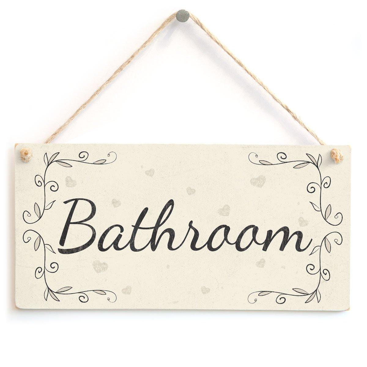 Shower Room Handmade Vintage Home Decor Wooden Door Sign
