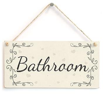 Bathroom   Handmade French Shabby Chic Style Wooden Home Decor Door Sign    Plaque. Bathroom   Handmade French Shabby Chic Style Wooden Home Decor