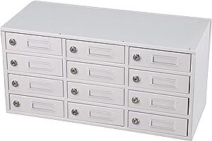 FixtureDisplays 12-Slot Cellphone Charging Station Locker Works with iPad Mini Assignment Mail Slot Box 15258!