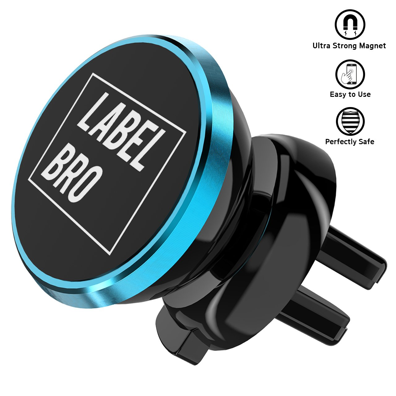 8 Labelbro Magnetic Phone car Mount Universal Air Vent Magnetic Cell Phone Holder for iPhone X Rose Gold Samsung Galaxy s8 7 s6 8plus s7 and All Smartphone 7plus