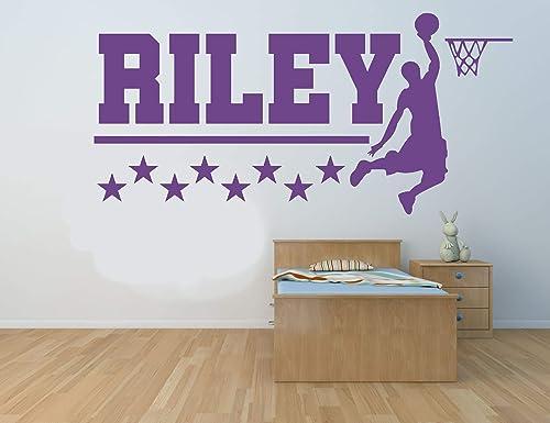 Nombre personalizado, jugador de baloncesto, vinilo ...