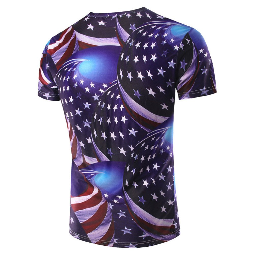Compression Shirts for Men,BOLUBILUY 3D Graphic Printed Blouse All Over Print American Flag Tops