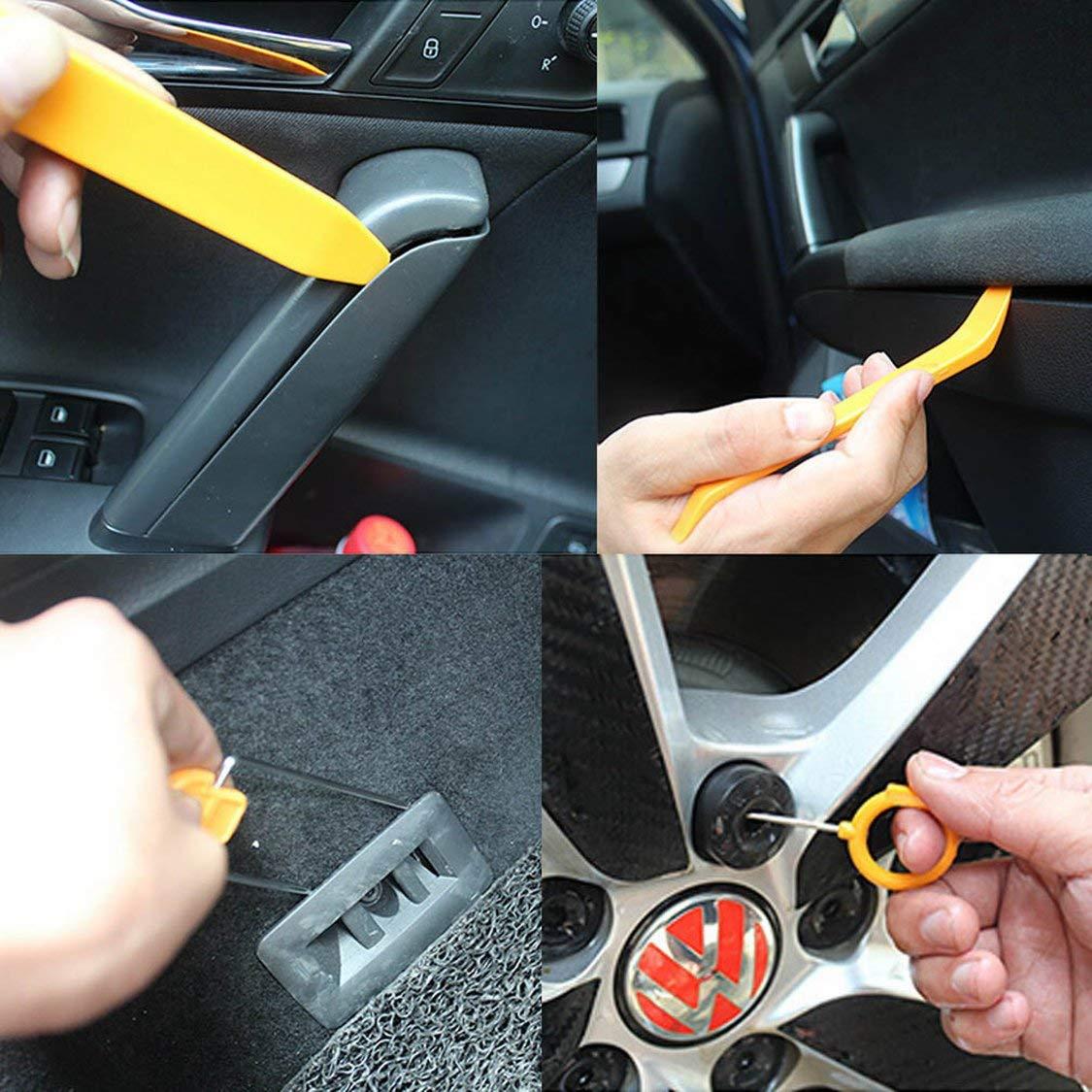 Automobile Radio Panel Door Clip Trim Dash Removal Installer Pry Repair Tool Set 12pcs//Set Car Panel Removal Tools