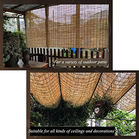 Persianas De Bambú, Estor De CañA De Paja, Persianas, Cortinas, Aptas para Balcones, Salones De Té, Jardines, Invernaderos, Personalizables: Amazon.es: Hogar