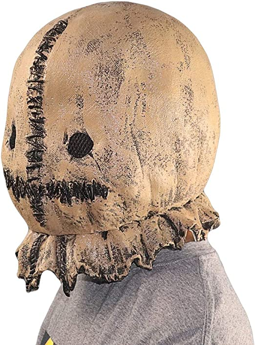NA Gel Nail Máscara de espantapájaros de látex de Halloween Cascos ...