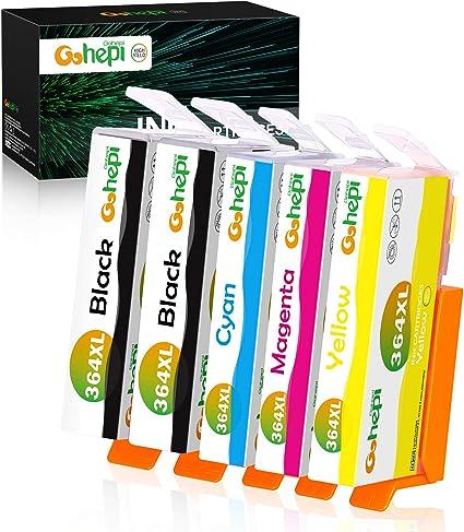 Gohepi 364XL Alta Capacidad Cartuchos de tinta Reemplazo para HP 364 Compatible con HP Deskjet 3070A,HP OfficeJet 4620,HP Photosmart 5510 5520 7510 7520 5514 5515 5522 5524 4622 6510 B110A B8550: Amazon.es: Oficina y papelería