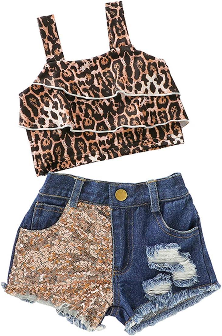 Borlai 1-6 Jahre Baby M/ädchen Mode Kleidung Set M/ädchen Hosentr/äger Kleid Set 2tlg