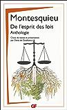 De l'esprit des lois: Anthologie