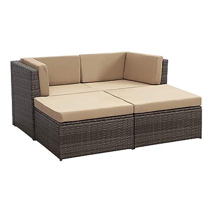 Amazon.com: Wisteria Lane juego de muebles de patio de 4 ...