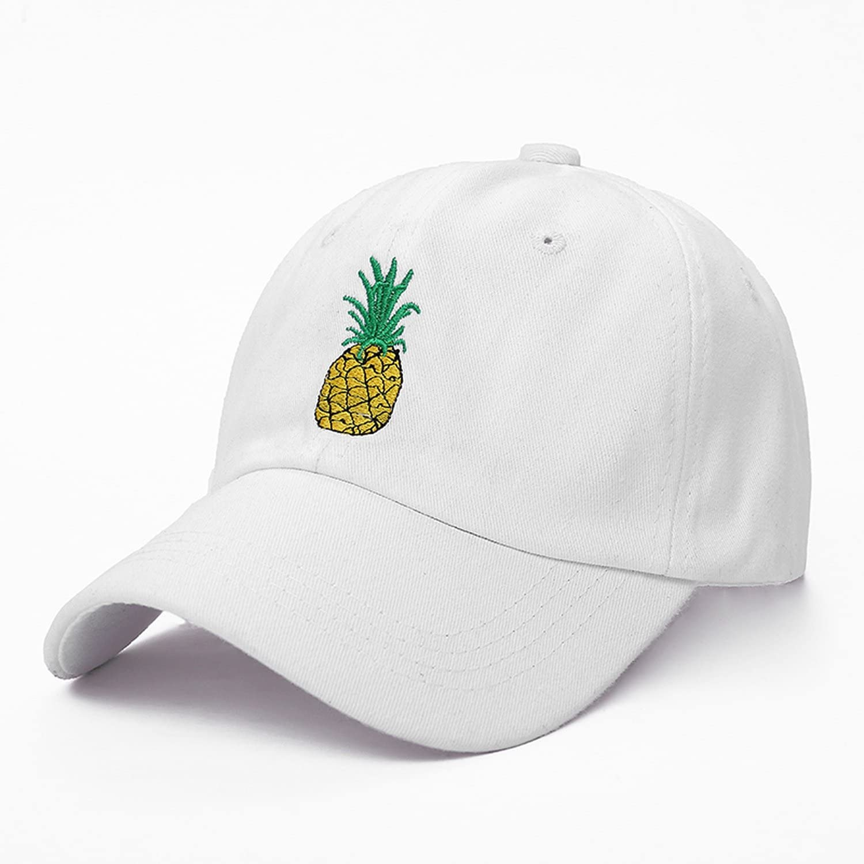 Wilbur Gold New Pineapple Embroidered Baseball Cap Funny Fresh Fruit Hipster Hat Pineapple Dad Hat Baseball Cap