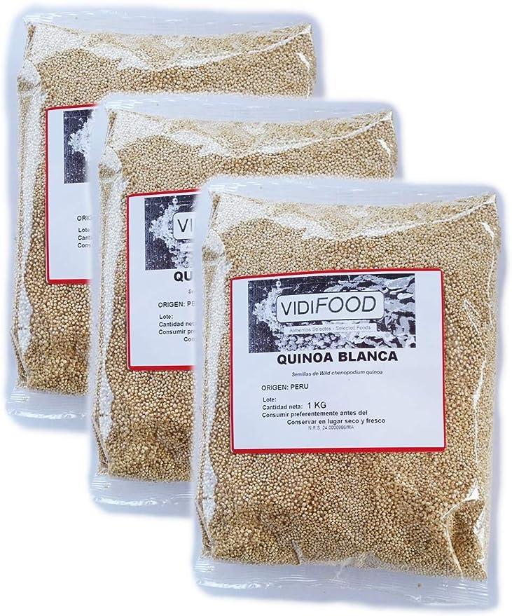 Quinoa Blanca - 3kg - Fuente Rica de Aminoácidos, Vitaminas y Minerales - 100% Natural y Sin Toxinas
