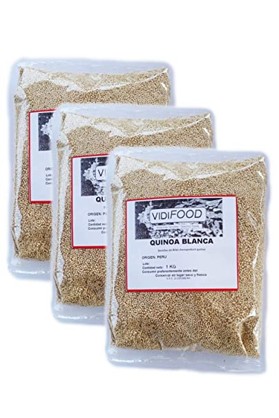 Quinoa Blanca - 3kg - Fuente Rica de Aminoácidos, Vitaminas y ...