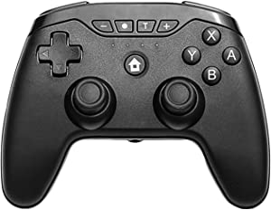 Janhiny Multifunctional Switch Wirelessly Controller BT Connected Gamepad Supported Gyroscope A-xis Function/Dual V-ibration for Computer Laptop E-Sports Trip Travel Portable