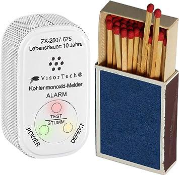 CO Melder Alarm Kohlenmonoxid Gaswarner Rauchmelder Gasmelder für Küche Bad Bus