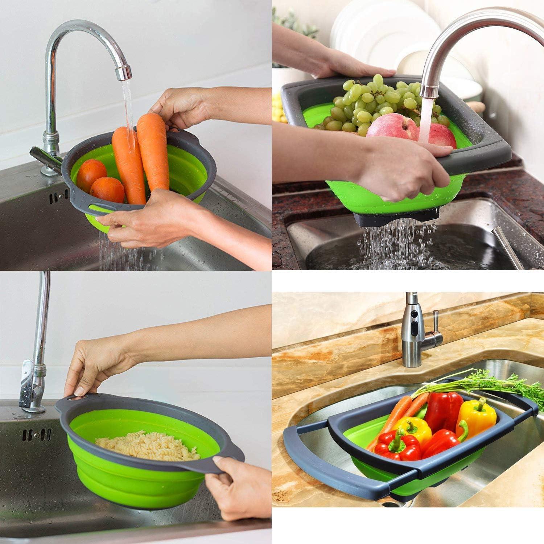 2x Nudel Siebkorb Lebensmittel Sieb Gemüse Küche die Sieb kocht