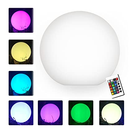 sports shoes 63c82 dc510 16'' LED Ball light, Multi RGB color changing light,YUMEITECH wireless  floating pool light with Remote Control Rechargeable, Indoor Outdoor Night  ...