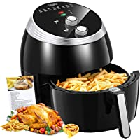 Air Fryer, Tidylife 6.3QT Large Air Fryer, 1700W Oilless XL Oven Cooker, Smart Time and Temperature Control, 8 Cooking Preset, 180-400℉Hot Air Fryer with Non-stick Basket, Auto Shut Off, 50+ Recipes