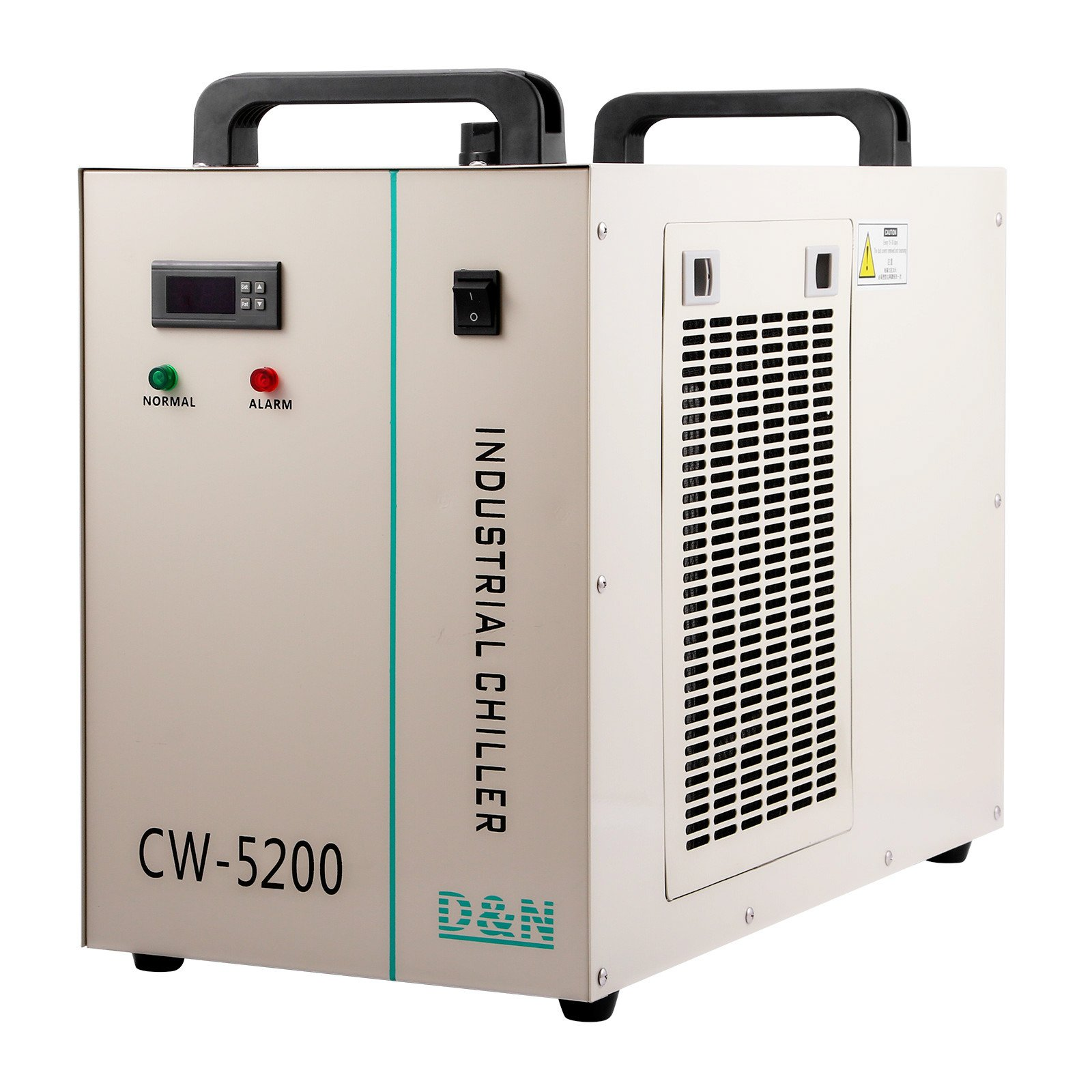 Forkwin Water Chiller 6L Water Chiller Industrial 10L/min Water Chiller Cooler 1400W Water Cooling Chiller for 130/150W CO2 Glass Tube