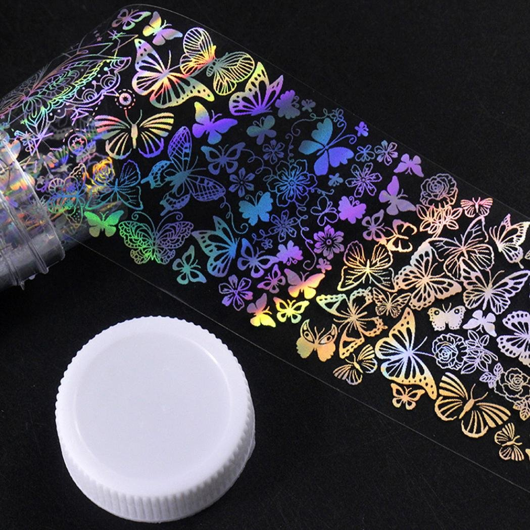 Women's Nail Foil Sticker, Iuhan Major Design Nail Art Foil Stickers Transfer Decal Tips Manicure DIY (B)