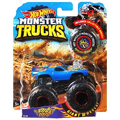 Monster Truck Dodge Rodger Dodger W/ Connect Crash CAR Hotwheels 2020: Toys & Games
