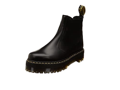 elegant shoes catch best supplier Unisex Adults Dr Martens 2976 Quad Polished Smooth Leather Platform Boot