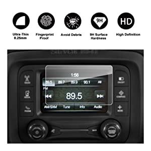 2015 2016 2017 Jeep Renegade Uconnect Navigation Screen Protector, RUIYA HD Clear TEMPERED GLASS Car In-Dash Screen Protective Film (5-Inch)